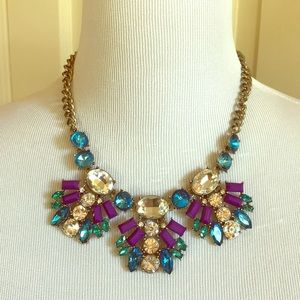 NWOT J. Crew Purple & Blue Statement Necklace